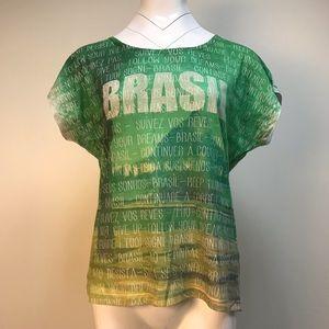 Tops - Brazil green T-shirt